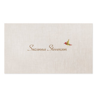 Simple Elegant Hummingbird Nature Double-Sided Standard Business Cards (Pack Of 100)