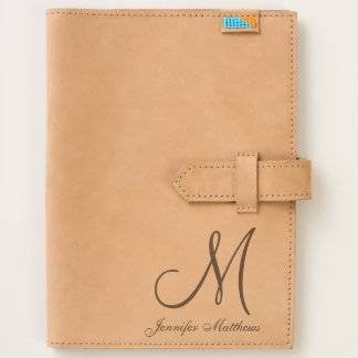 Simple Elegant Initial Name Monogram Journal