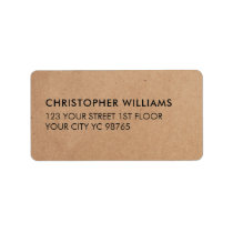Simple Elegant Kraft Paper Business Label