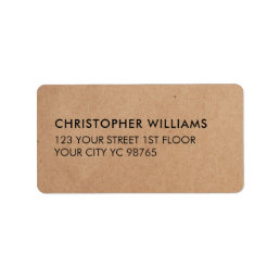 Simple Elegant Kraft Paper Business Label
