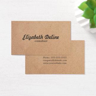 Simple Elegant Kraft Paper Consultant Business Card