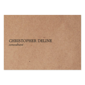 Simple Elegant Kraft Paper Consultant Large Business Card