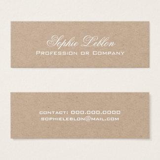 simple elegant kraft premium mini business card