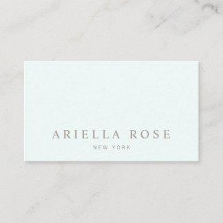 Simple Elegant Light Aqua Blue Professional Business Card