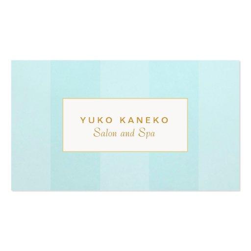 Simple Elegant Light Turquoise Blue Striped Business Card ...