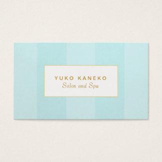 Simple Elegant Light Turquoise Blue Striped Business Card