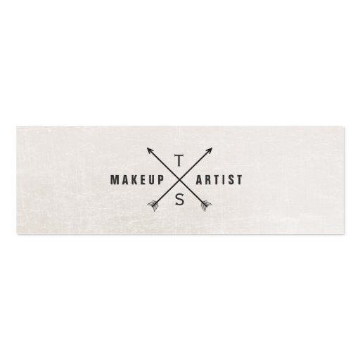 Simple Elegant Makeup Artist Black and White Business Card Template