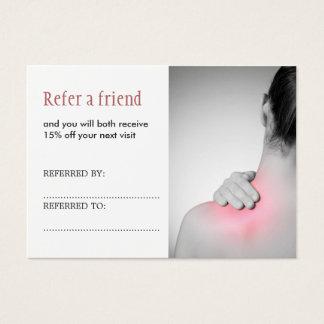 Simple Elegant Massage Therapist Referral Card
