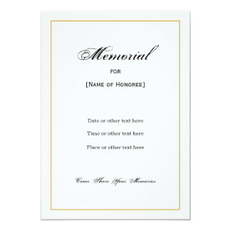 Memorial Invitations & Announcements | Zazzle