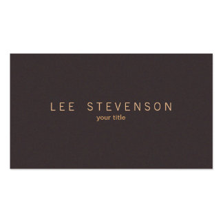Simple Elegant Minimalistic Solid Brown Suede Look Double-Sided Standard Business Cards (Pack Of 100)