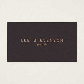 Simple Elegant Minimalistic Solid Brown Suede Look Business Card
