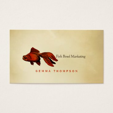 Professional Business simple elegant modern goldfish zen paper gold fish business card