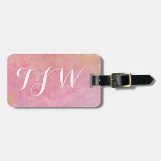Simple Elegant Modern Monogram Bag Tag