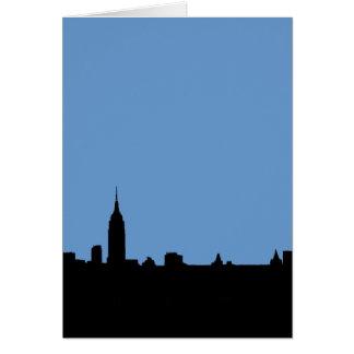 Simple Elegant Modern New York Silhouette Card