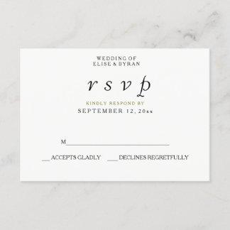 Simple Elegant Modern Script Wedding RSVP