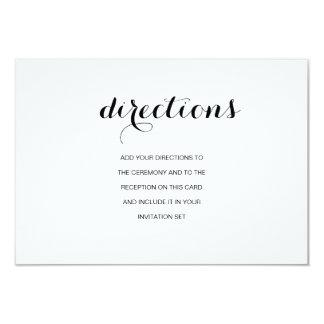 Simple Elegant Modern Wedding Directions Card