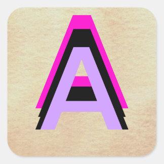 Simple Elegant Monograms - CricketDiane Square Sticker
