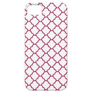 Simple Elegant Moroccan Design in Hot Pink Glitter iPhone 5 Case