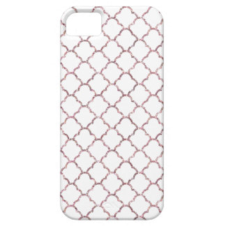 Simple Elegant Moroccan Design in Pink Glitter iPhone 5 Covers