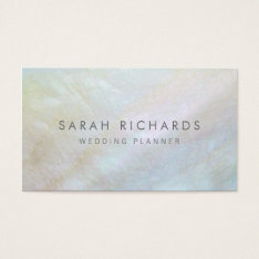 Simple Elegant Mother Of Pearl Business Cards at Zazzle