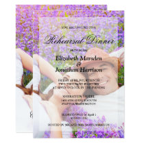 Simple Elegant  Photo Minimalist Rehearsal Dinner Invitation