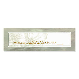 Simple Elegant Place Card Mini Business Card