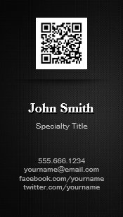 Qr code business cards templates zazzle simple elegant plain black professional qr code business card magnet colourmoves