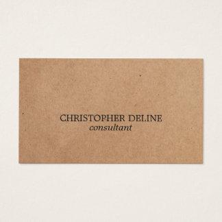 Simple Elegant PRINTED Kraft Paper Consultant Business Card