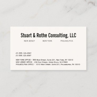 Simple Elegant Professional Corporate Office Business Card