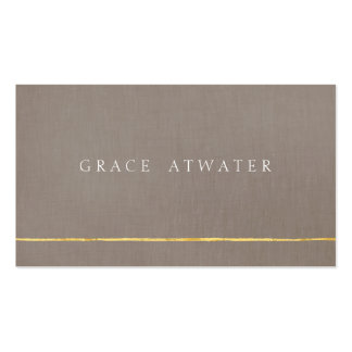 Simple Elegant Professional Gold & Taupe Business Card