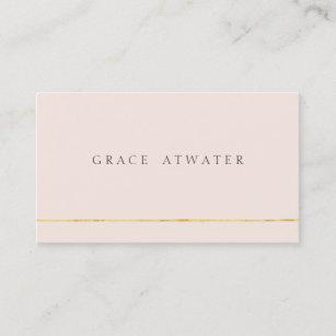 Simple Elegant Professional Light Pink Business Card