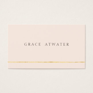 Simple Elegant Professional  Light Pink Business Card