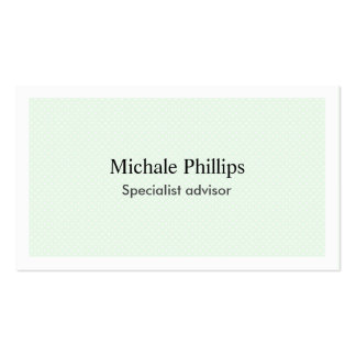 Simple elegant professional spots green white business card
