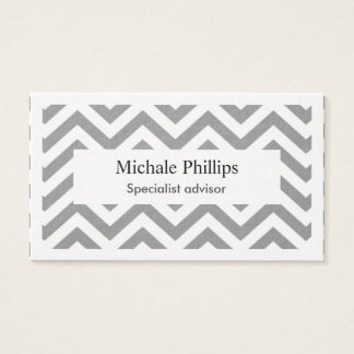 Simple elegant professional waves extraheavy business card