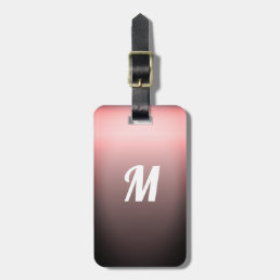 Simple Elegant Red Sangria Ombre Monogram Bag Tag