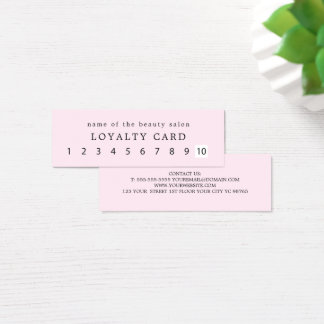 Simple Elegant Rose White Beauty Loyalty Mini Business Card