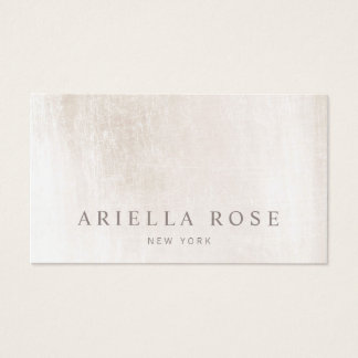 Simple Elegant Scratched White Marble Appointment Business Card