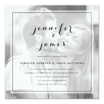 Simple Elegant Script Modern Photo Wedding Invitation