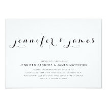 Simple Elegant Script   Modern Wedding Invitation