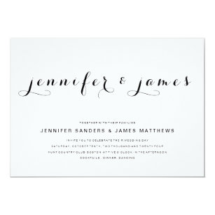 Simple wedding invitations announcements zazzle simple elegant script modern wedding invitation stopboris Choice Image