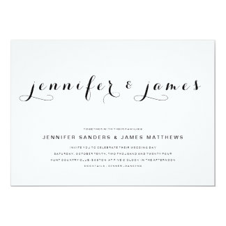 simple elegant script modern wedding invitation - Simple Elegant Wedding Invitations