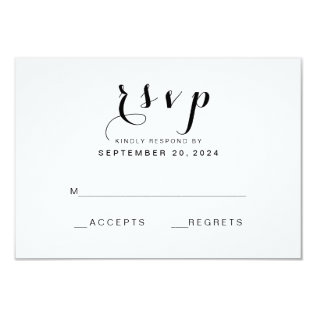 Simple Elegant Script | Modern Wedding Rsvp Card at Zazzle