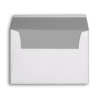 Simple Elegant Silver Gray Lined Wedding Envelope