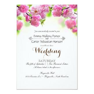 Simple Elegant Spring Rose Wedding Invitation
