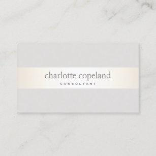 Simple Elegant  Taupe Professional Business Card