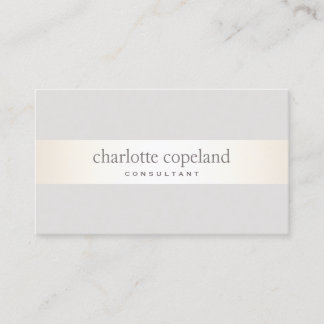Simple Elegant  Taupe Professional Business Card