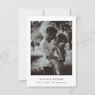 Simple Elegant Text and Photo   Wedding Save The Date