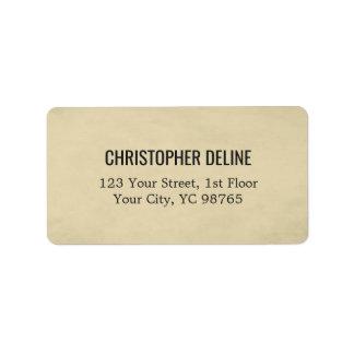Simple Elegant TExture Beige Label