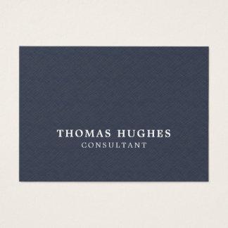 Simple Elegant Texture Blue White Consultant Business Card