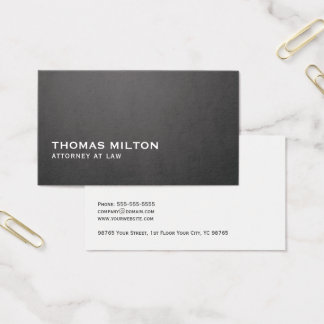Simple Elegant Texture Dark Grey White Consultant Business Card
